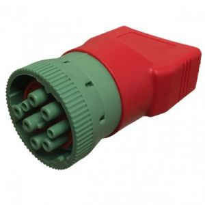 GREEN J1939 MALE TO OBDII FEMALE ADAPTER